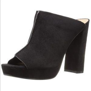 Peep Toe Block High Heel Platform Mule